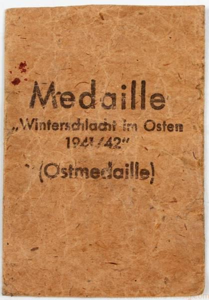 Verleihungstüte zur Ostmedaille, Herst. Rudolf Wächtler & Lange, Mittweida