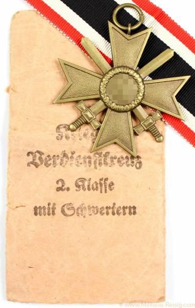 Kriegsverdienstkreuz mit Schwertern 2.Klasse 1939, Herst. Ferdinand Wiedmann, Frankfurt