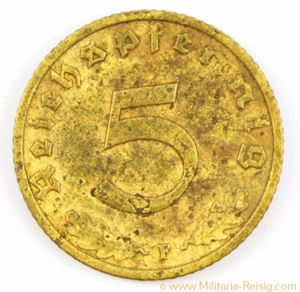 5 Reichspfennig 1937 F, 3. Reich