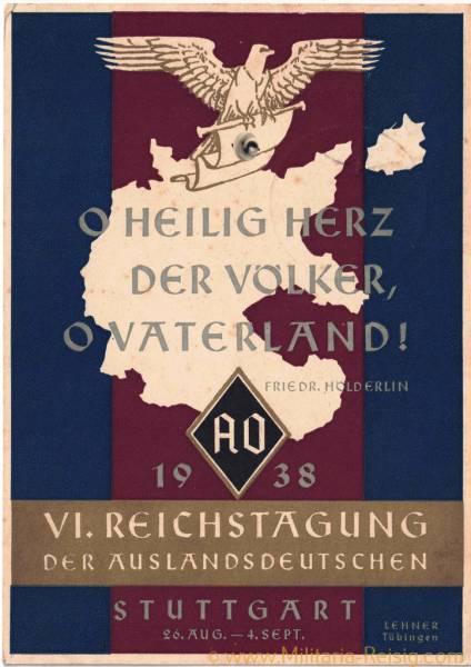 """Propaganda-Postkarte """"Reichstagung der Auslandsdeutschen 1938"""""""