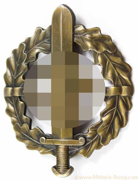 SA-Sportabzeichen in Bronze, Herst. Fechler, Bernsbach/SA. + Trägernummer