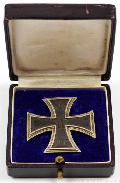 Eisernes Kreuz 1. Klasse 1914 mit Gravur, Friedrich Sedlatzek, Berlin