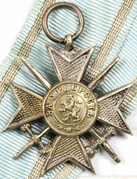 Militärverdienstkreuz mit Schwertern in Silber, Bulgarien