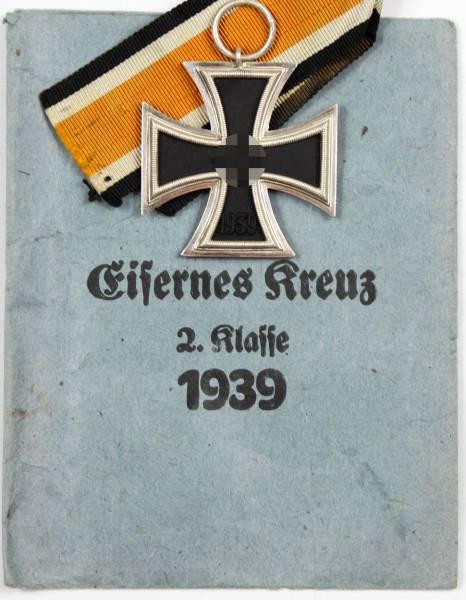 Eisernes Kreuz 2. Klasse 1939, Herst. 65 (Klein & Quenzer, Oberstein), TOP!