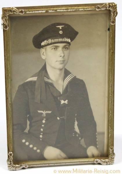 Gerahmtes Portrait eines Marinesoldaten, Kriegsmarine