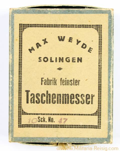 10 Taschenmesser Originalverpackt, Herst. Max Weyde, Solingen