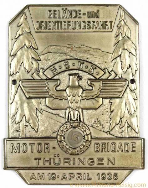 Motor-Brigade Plakette