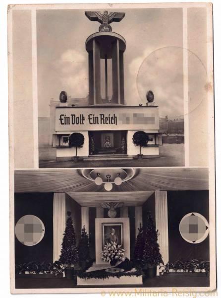 """Postkarte """"Ein Volk, Ein Reich, Ein Führer"""", 3. Reich."""