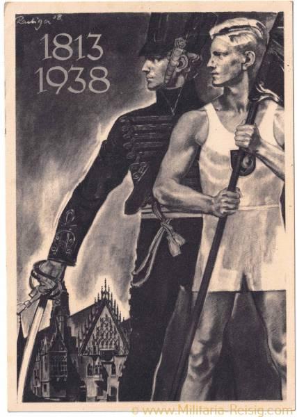 """Postkarte """"Deutsches Turn- und Sportfest Breslau 1938"""" - 1813/1938"""