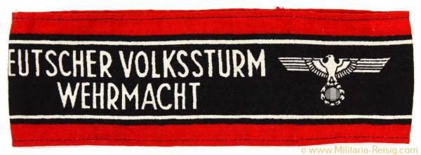 Armbinde Deutscher Volkssturm Wehrmacht