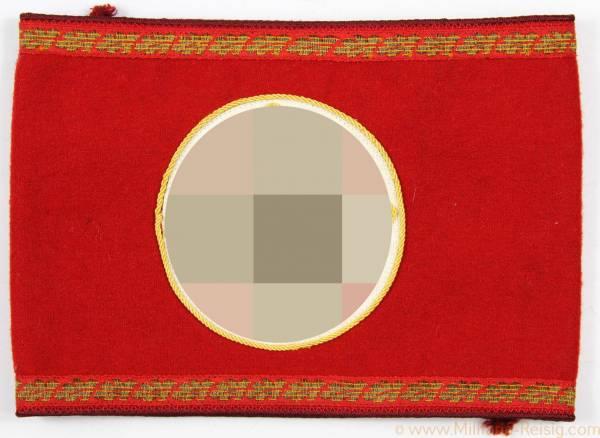 NSDAP Armbinde für einen Leiter einer Stelle, Gauleitung mit RZM-Etikett