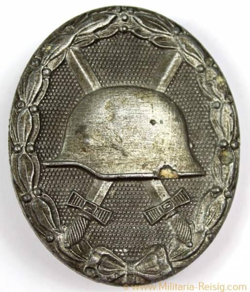 Verwundetenabzeichen in Silber, Herst. 65 (Klein & Quenzer, Oberstein) entnazifiziert