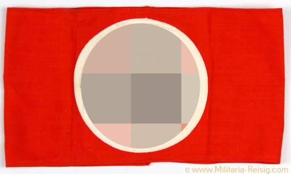 NSDAP Armbinde mit RZM-Etikett 3. Reich
