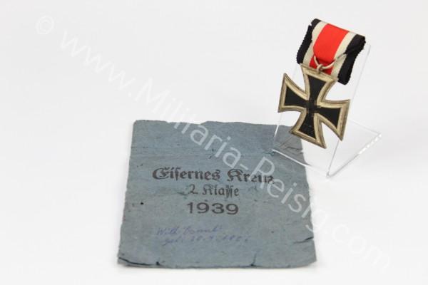 Eisernes Kreuz 2. Klasse 1939 mit Verleihungstüte