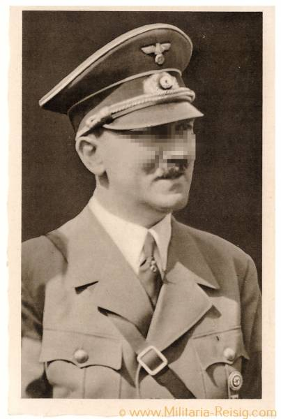 Postkarte Adolf Hitler, Sudetenland Sonderstempel Mährisch Schönberg Tag der Befreiung 1938