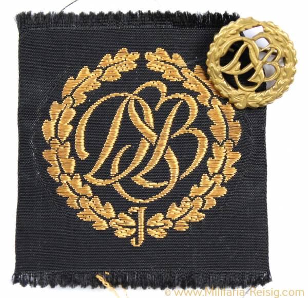 2 DSB Abzeichen in Bronze (Stoff und Anstecknadel) Herst. ST. & L. Lüdenscheidt