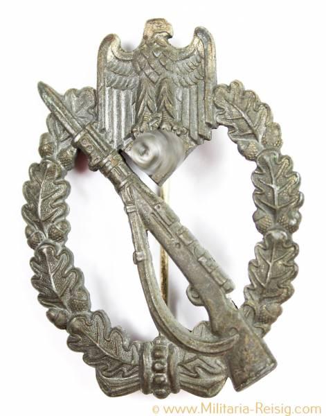 Infanterie Sturmabzeichen (ISA) in Silber, Herst. Josef Bergs & Co., Gablonz
