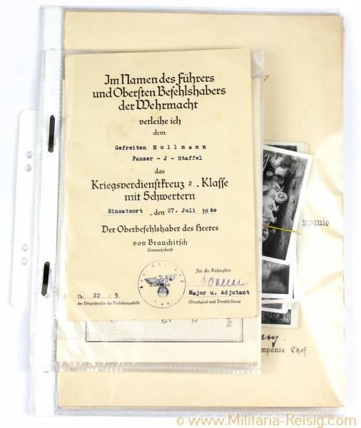 """Dokumentengruppe eines Unteroffiziers """"Otto Hollmann"""""""