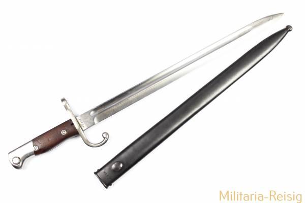 Bajonett für Mausergewehr M1909 Argentinien, Herst. Weyersberg Kirschbaum & Cie. WKC, TOP!