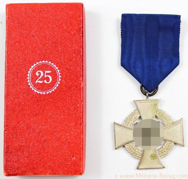 Treuedienst-Ehrenzeichen 2.Stufe für 25 Jahre, Herst. Friedrich Keller, Oberstein