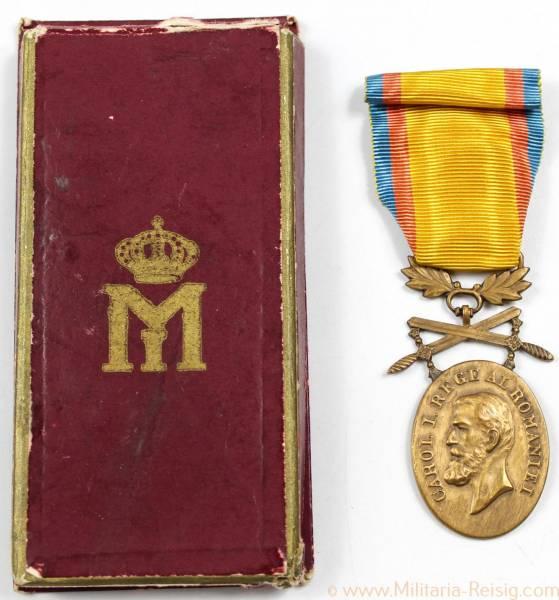 Rumänien Medaille für Mannhaftigkeit und Treue in Bronze