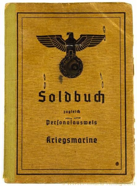 Soldbuch Kriegsmarine des ehemaligen Matrosenobergefreiter Kurt Triller