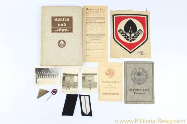 Reichsarbeitsdienst (RAD) Nachlass, Dokumente, Fotos, Kleinabzeichen, usw...