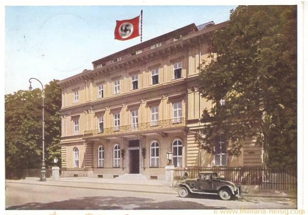Postkarte das Braune Haus München