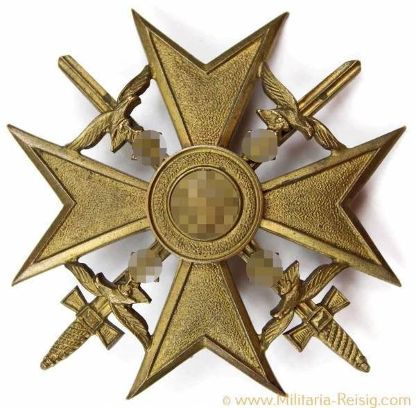 Spanienkreuz in Bronze mit Schwertern, Herst. L/13