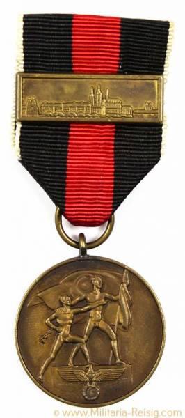 """Sudetenland-Medaille mit Auflage """"Prager Burg"""""""