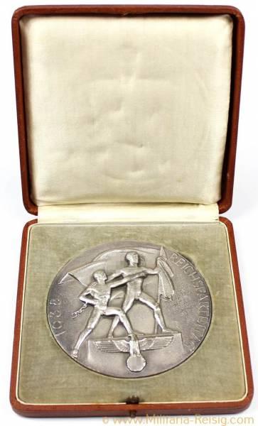 """Medaille """"N.S. Kampfspiele 1938 Zweiter Platz - Reichsparteitag 1938"""", 3. Reich"""