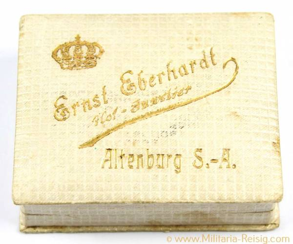 Etui Altenburg S.-A., Medaille oder Ehrenauszeichnung, Herst. Hofjuwelier Ernst Eberhardt