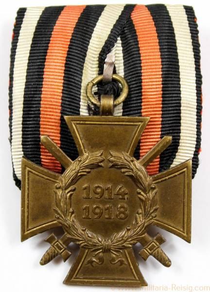 Ehrenkreuz des 1.Weltkrieges Frontkämpferkreuz an Einzelspange