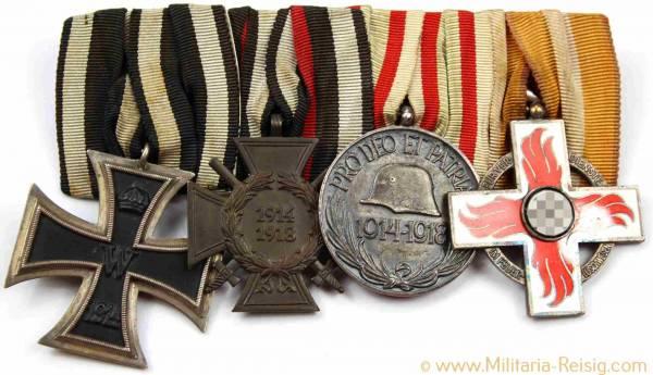 Ordensspange mit 3 Auszeichnungen, 1. Weltkrieg, 3. Reich