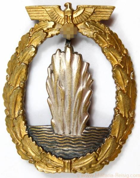 Marine Minensucher Kriegsabzeichen, Herst. Assmann