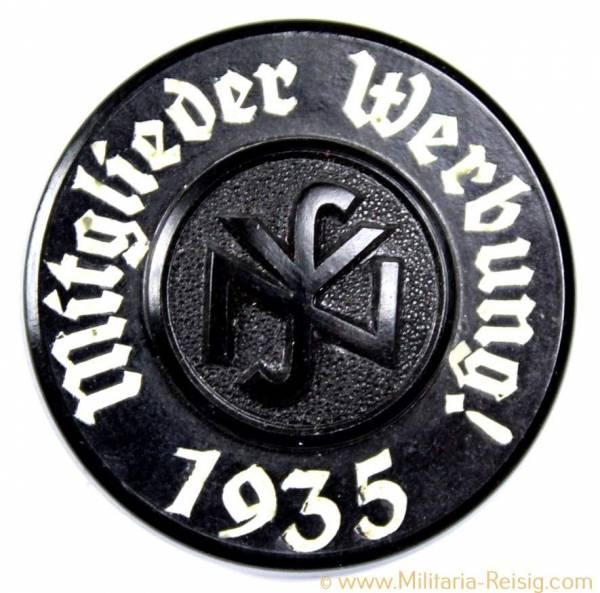 """Mitgliedsabzeichen Nationalsozialistische Volkswohlfahrt (NSV) """"Mitglieder Werbung 1935"""""""