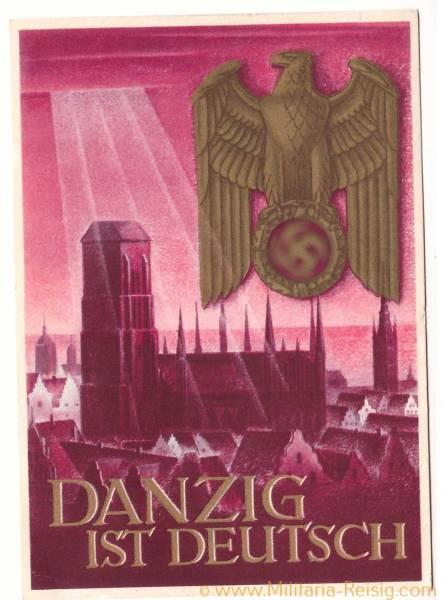Postkarte Danzig ist Deutsch, 3. Reich