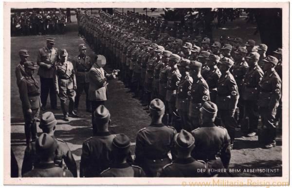 """Postkarte """"Der Führer beim Arbeitsdienst"""", Adolf Hitler"""