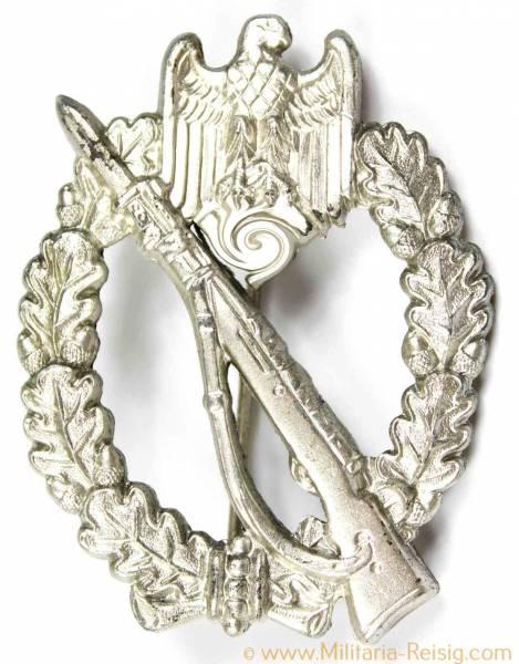 Infanterie Sturmabzeichen (ISA) in Silber, Herst. W.H. (Wilhelm Hobacher, Wien), TOP!
